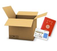 STEP02 お客様のご自宅まで宅配キットをお届け致します。あとは売りたいアイテムと身分証明書のコピーを入れて送るだけ!